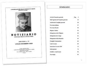 Copertina e Sommario. Notiziario ufficiale per gli atti di Curia.