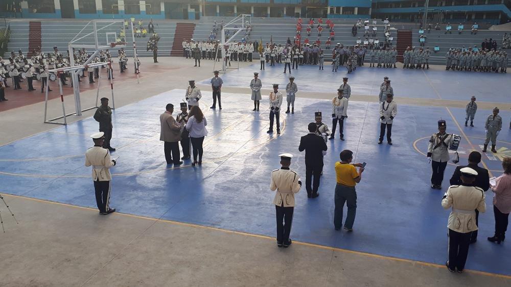 Cerimonia presso all'Academia Militar Borja 3 Cavanis in Ecuador.